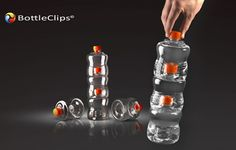 With its BottleClips, BTC Concept invented an innovative system that makes small bottles look big. With one simple twist of the hand, bottles get stacked and interlocked to become a one and unique packaging.