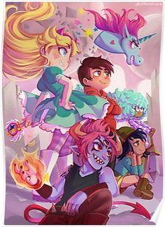 SvTFoE Poster Anime Stars, Evil Art, Force Of Evil, Gravity Falls, Disney Art, Pixar, Star Vs The Forces Of Evil Starco, Star Force, Star Wars