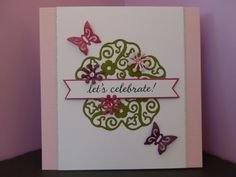 Card made using X-cut filigree layered flowers dies for Die-Cutting Essentials