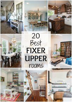 Love Fixer Upper? Us too! We've got 20 of the BEST Fixer Upper rooms from…