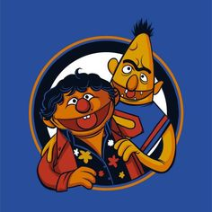 The Sesame Street pals Bert and Ernie have been given a Goonies overhaul in Michael Myers' excellent illustration