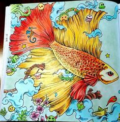 my version of the fish in the Animorphia book