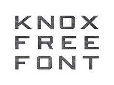 Knox Regular: A font inspired by american western culture