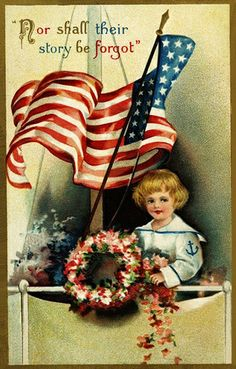 Here are more 20 colorfully-illustrated vintage Memorial day postcards (the holiday originally called Decoration Day), all from the early Graphic 45, Vintage Cards, Vintage Postcards, Vintage Images, Holiday Postcards, Vintage Pictures, Vintage Décor, Vintage Flag, Vintage Ephemera