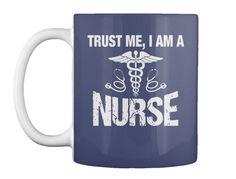 Trust Me, I Am A Dk Navy Mug Front