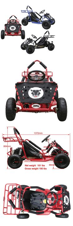 Complete Go-Karts and Frames 64656: 1800 Watt Electric Go Kart 1800W 48V For Kids Four Wheelers BUY IT NOW ONLY: $579.99