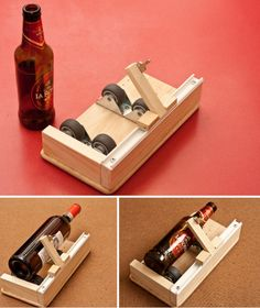 The best bottle cutter! - Home & DIY Bottle Cutter, Glass Cutter, Wine Bottle Art, Wine Bottle Crafts, Homemade Tools, Diy Tools, Diy Wood Projects, Woodworking Projects, Cutting Glass Bottles