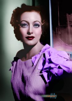 Photo colorized by Alex Lim Hollywood Photo, Old Hollywood Movies, Vintage Hollywood, Joan Crawford, Golden Age, Goddesses, Movie Stars, Beautiful Women, Celebrities
