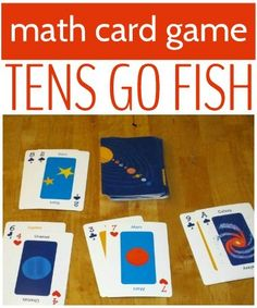 Play Tens Go Fish for a math twist on the tradtional card game for kids.