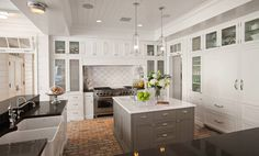 farmhouse kitchen with island
