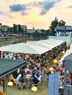 "Der ""Tel Aviv Beach"" in Wien am Donaukanal - die perfekte hippe Sommerlocation."
