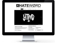 HATEWORDSTORE.COM #WebDesign #Apparel #Clothing