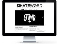 HATEWORDSTORE.COM #WebDesign #Apparel #Clothing