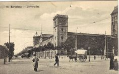 New listing.  #postcards, #vintage, #antique, #paper ephemera, #cobble stone, #period Clothing, #stone Building, #barcelona, #horse and buggy, #1900's