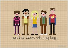 Geek cross stitch patterns: Big Bang Theory, Star Wars, TMNT, Ghostbusters, and MORE. Will use this site for sure!