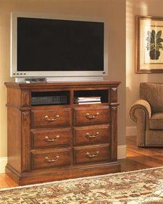 Torreon Rustic Antique Pine Wood Media Chest