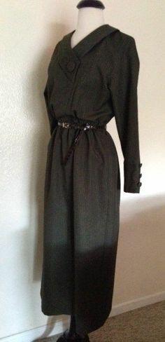 TRUE VTG 1940s WW2 USO BLITZ ARMY SUIT CROSSOVER DRESS UNIFORM STYLE CLASSY S