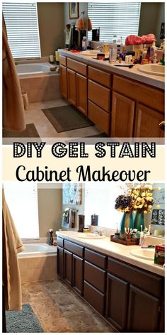 A DIY easy and cheap way to update your cabinets using General Finishes Gel Stain.