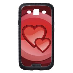 Two hearts in a red circle galaxy s3 cases $56.25