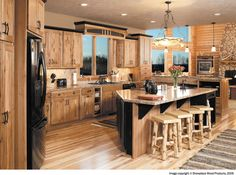 Image By Showplace Wood Products Rustic Hickory Cabinetshickory Kitchenoak