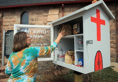 CHEYENNE – The Little Free Pantry at St. Mark's Episcopal Church proves how easy it is to both help others and receive help.