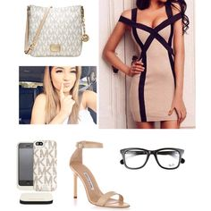 Untitled #52 by flinch552 on Polyvore featuring polyvore fashion style Manolo Blahnik Michael Kors Ray-Ban