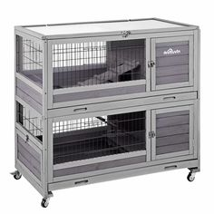 DescriptionsHamster cage with 2 DEEPPER removable pull out tray ! NOT LEAK! Better plasitc quality, easy to clean !Ferret cage on 4 wheels easily to of them are locking wheel to fix well and safe. Diy Guinea Pig Cage, Guinea Pig Hutch, Bunny Hutch, Guinea Pigs, Large Rabbit Hutch, Outdoor Rabbit Hutch, Rabbit Hutches, Ferret Cage, Rat Cage