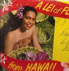 Vintage Hawaii Souvenir , 1967 postmark