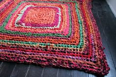 handmade crocheted rug