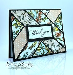 Stampin' Up! Bird Ballad Designer Series Paper - Stamping With Tracy Scrapbooking, Scrapbook Cards, Strip Cards, Tarjetas Stampin Up, Patchwork Cards, Karten Diy, Stamping Up Cards, Bird Cards, Card Tutorials