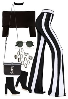 """""""Sem título #1157"""" by oh-its-anna ❤ liked on Polyvore featuring Dorothee Schumacher, Balmain, Urban Renewal, Yves Saint Laurent, Gianvito Rossi, Ray-Ban and ASOS"""