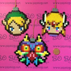 Legend of Zelda Christmas Pixel Baubles by ZoZoTings on Etsy