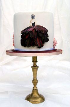 Flowery dresses - Cake by Katarzynka - my next challenge! Gorgeous Cakes, Pretty Cakes, Cute Cakes, Amazing Cakes, Girly Cakes, Fancy Cakes, Unique Cakes, Creative Cakes, Elegant Cakes