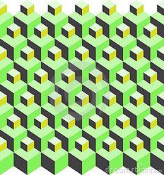 isometric cube pattern variation