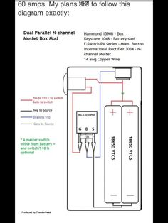 Dual Parallel MOSFET Box Mod Diagram.