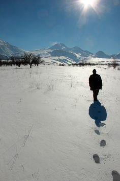 Erciyes'te yalnızlığın, kar sesinin ortasında...