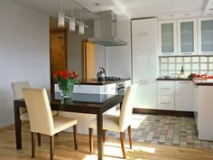 idea of the day  small modern apartment kitchen with white cabinets open plan layout  27 antique white kitchen cabinets  amazing photos gallery      rh   pinterest com