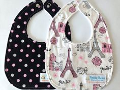 Check out our baby girl bib set selection for the very best in unique or custom, handmade pieces from our shops. Paris Baby Shower, 2 Girl, Welcome Baby, Baby Bibs, Trending Outfits, Unique Jewelry, Handmade Gifts, Tower, Accessories