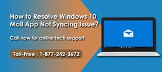 How to Resolve Windows 10 Mail App Not Syncing Issue? Read blog and Get best guidelines:-  https://goo.gl/GHySrc  #Resolve_Windows _10 #Mail_App #Not_Syncing_Issue