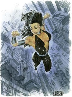 Philip Tan / Donna Troy watercolor Comic Art