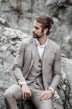 18 Stylish Groom Attire For Bohemian Wedding ❤  groom attire vest with jacket linneo eu #weddingforward #wedding #bride