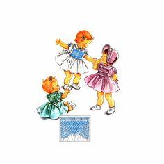 1950s Toddler Girls Smocked Dress Bonnet McCalls 2153 Vintage Sewing Pattern