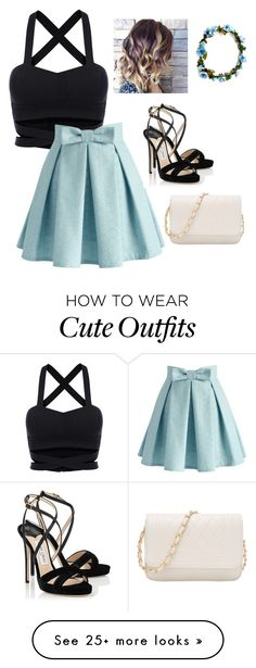 """""""Cute Outfit For A Day Out With Your Friends"""" by jajaxfab on Polyvore featuring Chicwish and Jimmy Choo"""