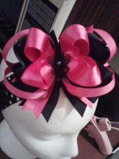 Black & Pink bow