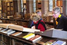 Archivists care for records that help back claims to royalty. Here, Gloucester searches for a link to Richard III.