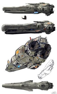 on a side note, i did a lot of line and drawings for Halo sometimes creating entire designs with a simple line, patiently building one area after the next. Space Ship Concept Art, Concept Ships, Spaceship Art, Spaceship Design, Space Opera, Starship Concept, Sci Fi Spaceships, Space Battles, Sci Fi Ships
