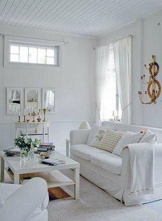 Todos os tons de branco: 30 Sala de visitas bonita projeta   DigsDigs