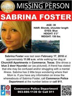 Find Missing Sabrina Foster!