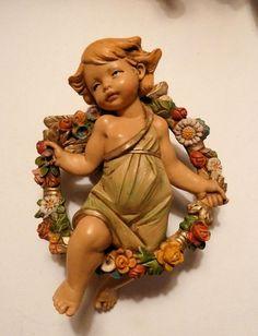 "FONTANINI ITALY 4.5"" Cherub Angel Figurine SPRING from 4 Seasons Set 854 #Fontanini"