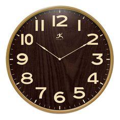 "Infinity Instruments Arbor ll- 21"" Wood Wall Clock"